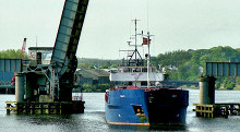 "Coleraine, The ""Sina B"", River Bann, County Londonderry © Albert Bridge"